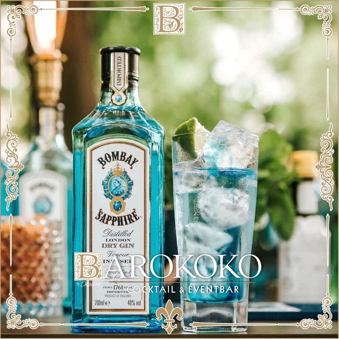 Bombay Sapphiere Gin im BARokoko in Gotha