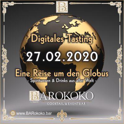 Digitales Tasting im BARokoko rund um den Globus in Gotha